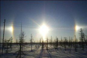Полярное небо - три солнца