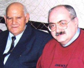 С отцом: Алихас Аббасович и Эльдар Алихасович