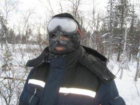 Маска - единственное спасение от холода